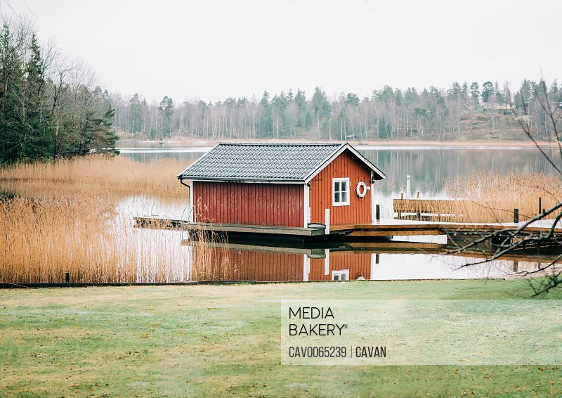 Traditional Swedish hut on the Baltic Sea<br><br><span style='color: red'>Editorial Use Only.</span><br><br>