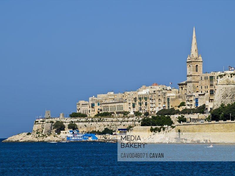 Valletta Skyline as seen from Marsamxett Harbour