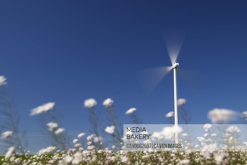 Windmill for renewable electric energy production in Spain.