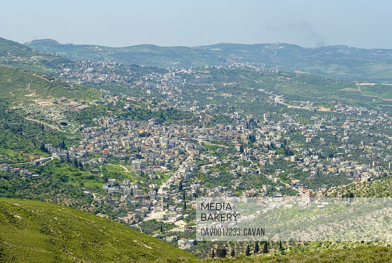Town of Jaba', view from Mt. Bayzeed, Jenin, West Bank, Palestine