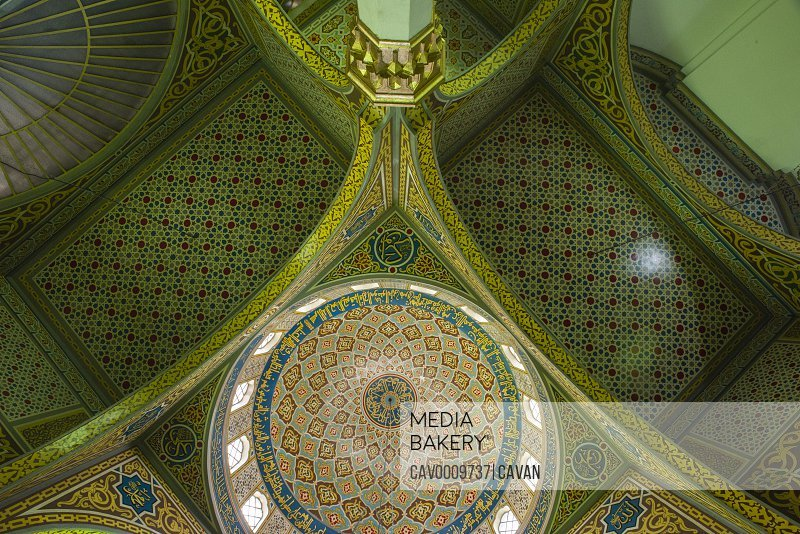 Mosque ceiling in Sao Paulo <br><br><span style='color: red'>Editorial Use Only.</span><br><br>