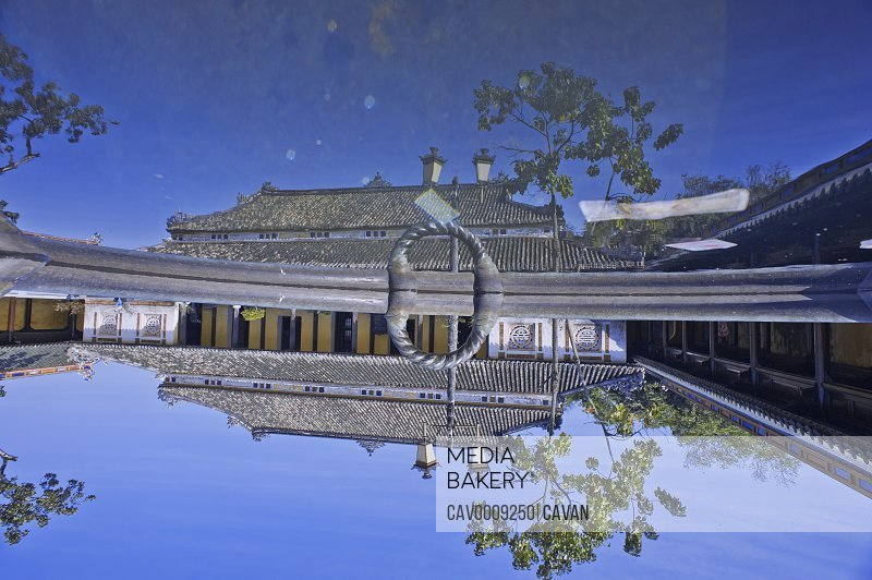 Reflex of ancient building in the Hue Imperial City