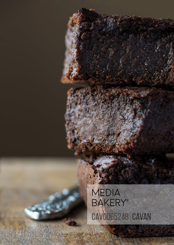 plant based chocolate brownies made with sweet potatoes  close up