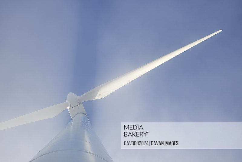 Wind turbine for sustainable electric energy production in Spain.