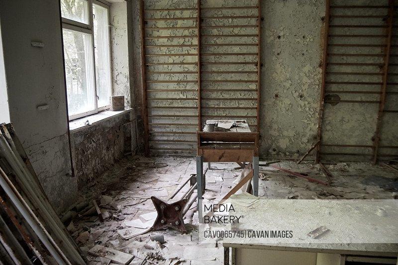 maternity ward in No. 126 hospital in Pripyat ghost town, Chernobyl, Ukraine
