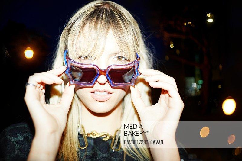 Sunglasses pose