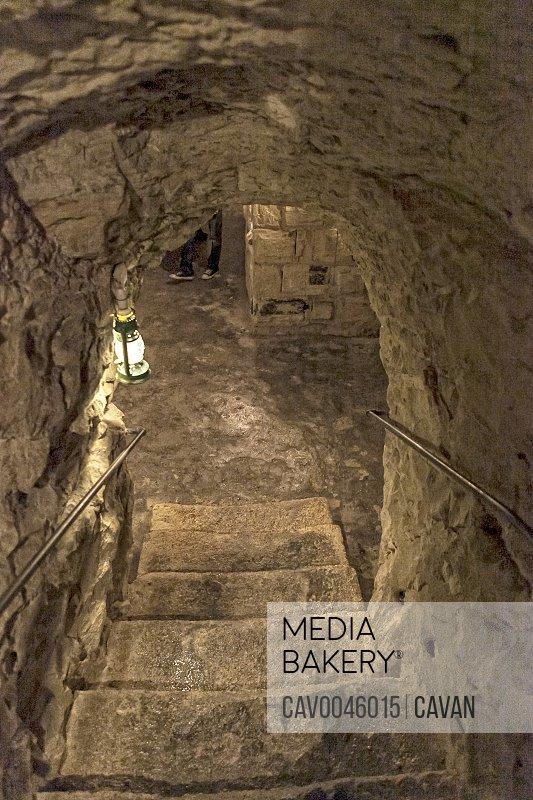 Subterranean corridor in Valletta Malta