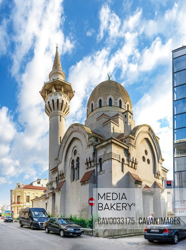 Great Mosque in Constanta, Romania<br><br><span style='color: red'>Editorial Use Only.</span><br><br>