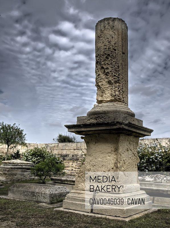 The Pillar Gravestone in Malta