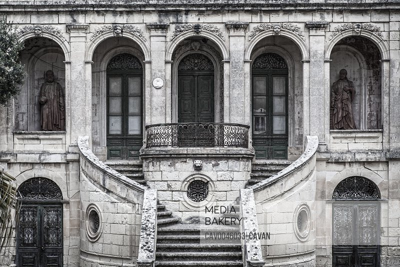 Spooky abandoned House with beautiful facade<br><br><span style='color: red'>Editorial Use Only.</span><br><br>