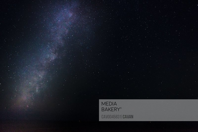 Milky Way background with copy space