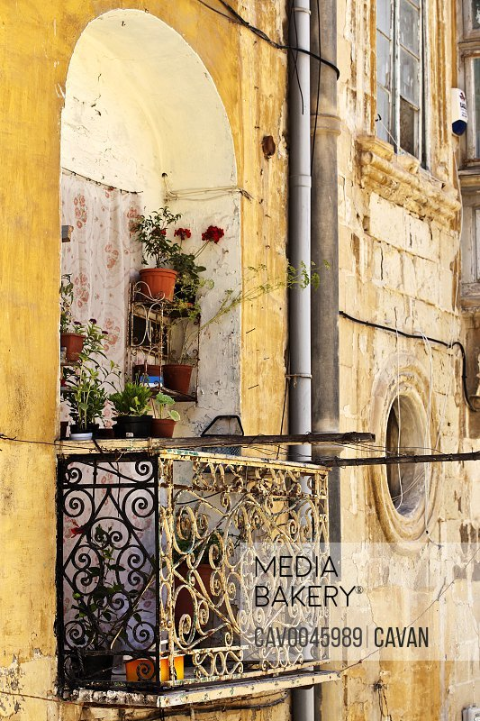 Old wrought iron balcony in Valletta