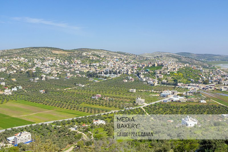 View of Sanur from Mt. Bayzeed, Jenin, West Bank, Palestine