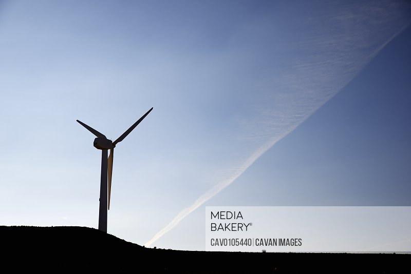 Wind turbine for electric power production in Spain.