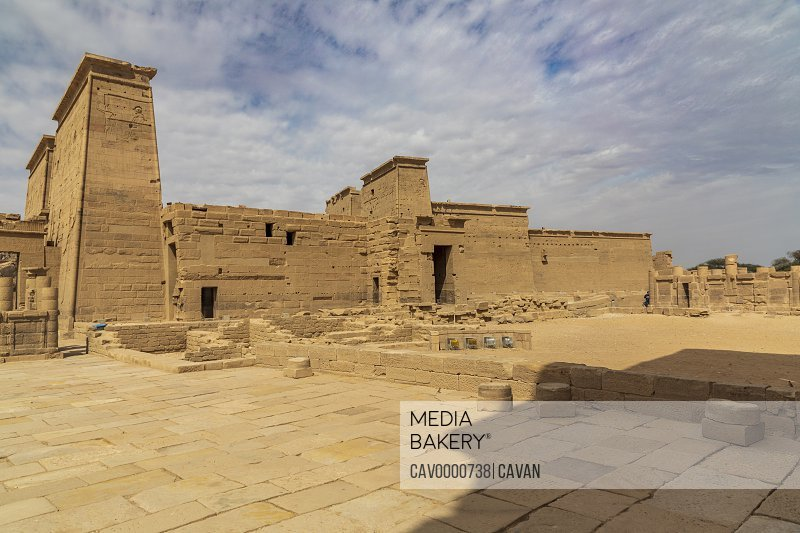 Inside the complex of the Temple of Isis in Philae