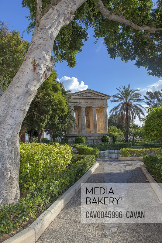 Sir Alexander Ball memorial Lower Barrakka Gardens in Valletta