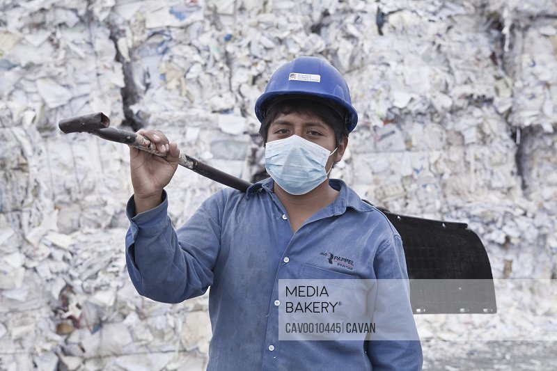 Paper Recycling Industry <br><br><span style='color: red'>Editorial Use Only.</span><br><br>