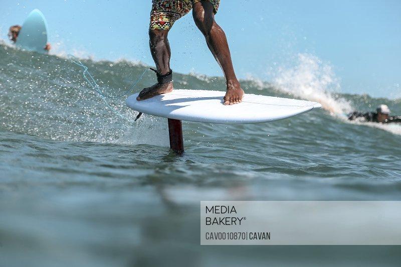 Foil surfing