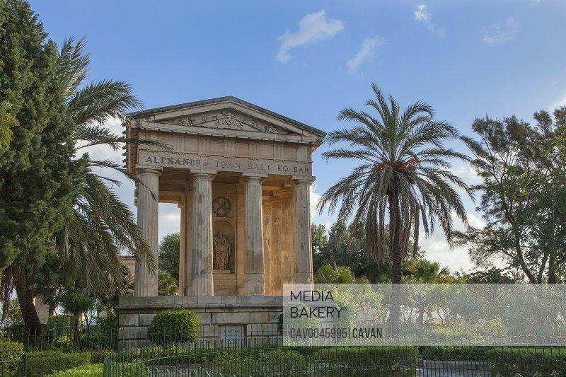 Sir Alexander Ball Monument at Lower Barrakka Gardens