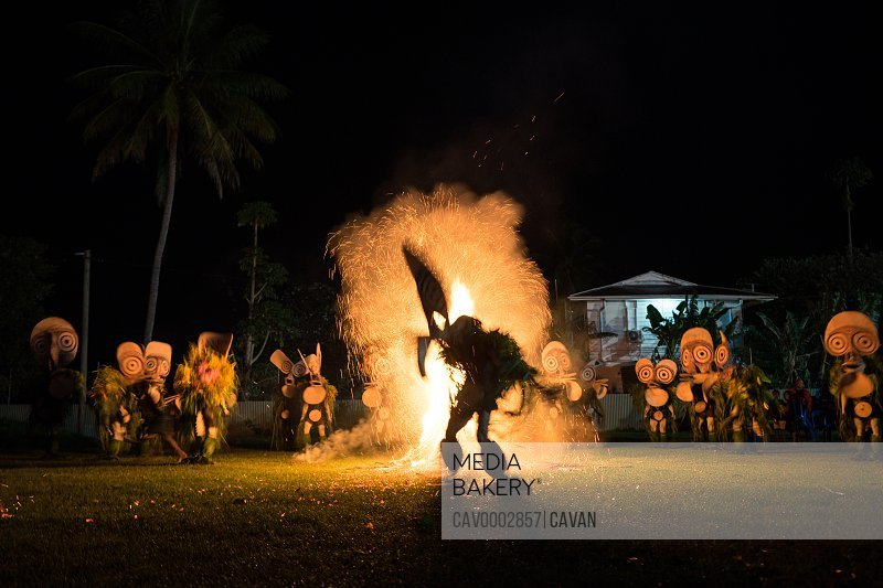 Baining fire dance. Performed by people from the Baining tribe<br><br><span style='color: red'>Editorial Use Only.</span><br><br>