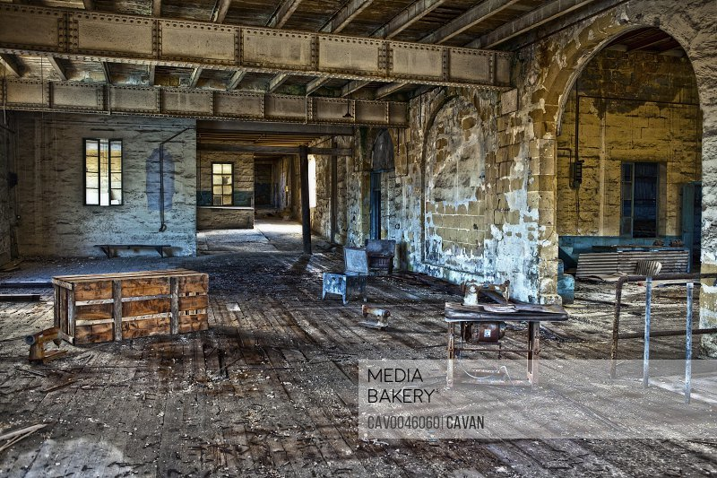 Abandoned Chinese sweat shop in Malta