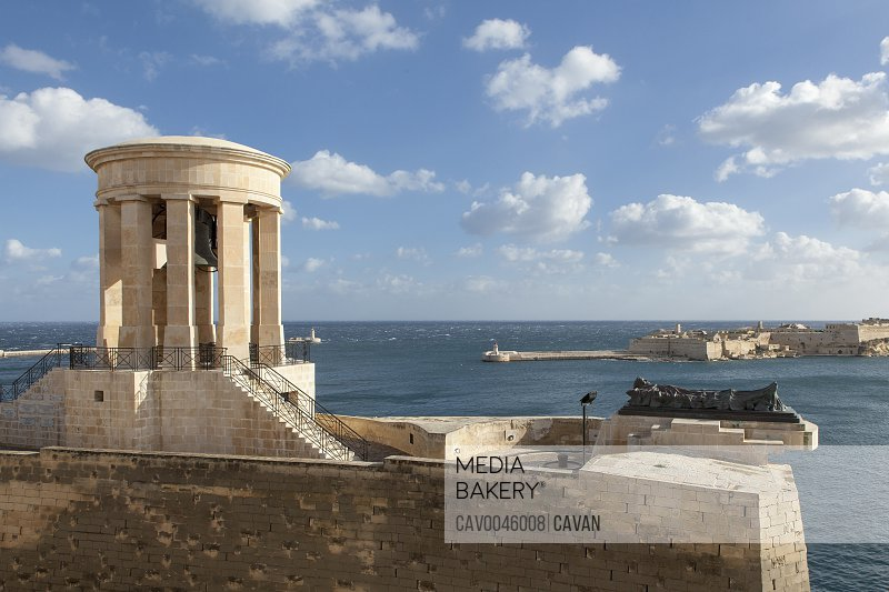 WWII Great Siege Memorial at the Grand Harbour in Malta