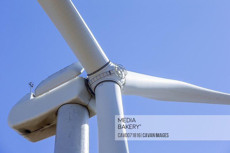 Wind Turbine in Colorado against blue sky