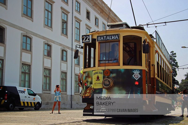Famous yellow tram of Porto.<br><br><span style='color: red'>Editorial Use Only.</span><br><br>