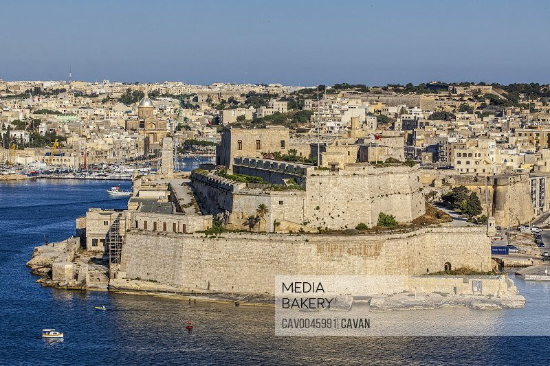 Fort St. Angelo as seen from Valletta