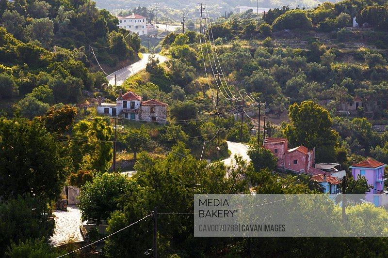 View of Chora village early in the morning.