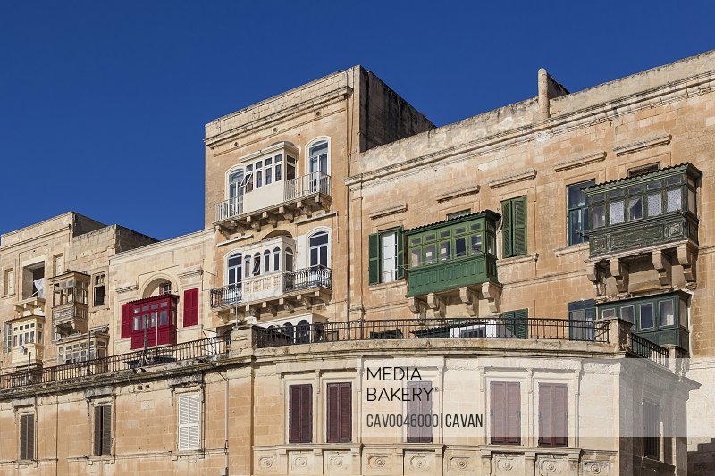 Valletta Balconies overlooking the Grand Harbour