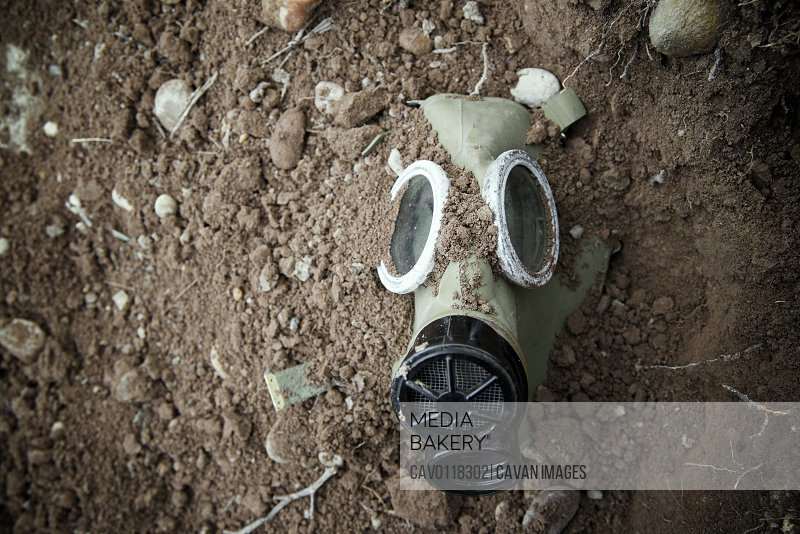 Old mask for bacteriological warfare used during the cold war era.