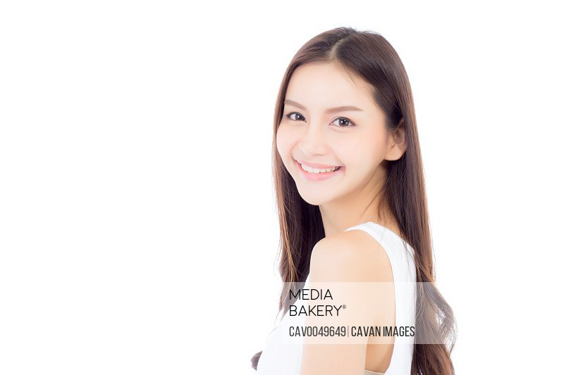 Portrait of beautiful asian woman makeup of cosmetic, beauty of