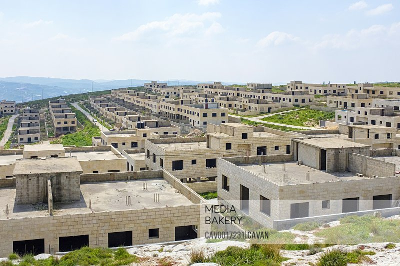 Unfinished housing project used for Israeli army training, near Nablus