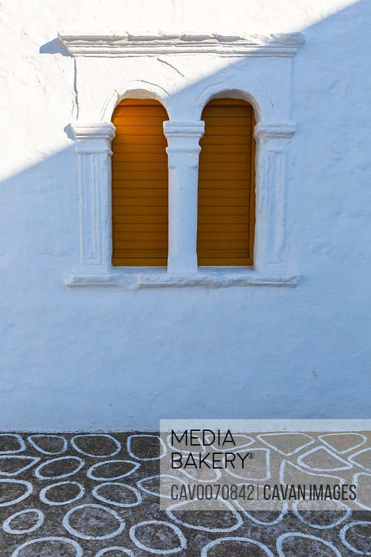 Architectural detail in Chora of Kimolos island in Greece.