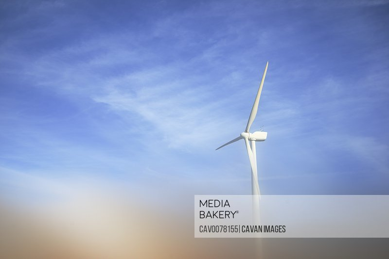 Wind turbine for sustainable energy production in Spain.
