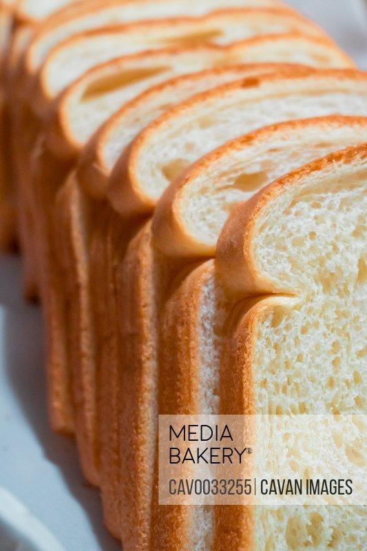 A lot of bread in a buffet breakfast