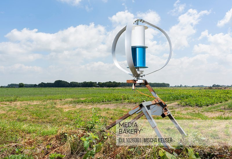 Experimental wind turbine on research facility