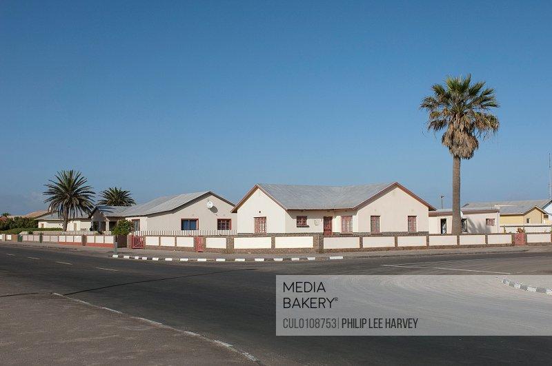 Quiet suburban scene in Walvis Bay Namibia