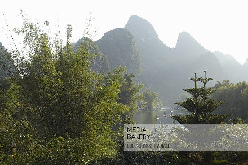 Peaceful scene in Yangshuo China