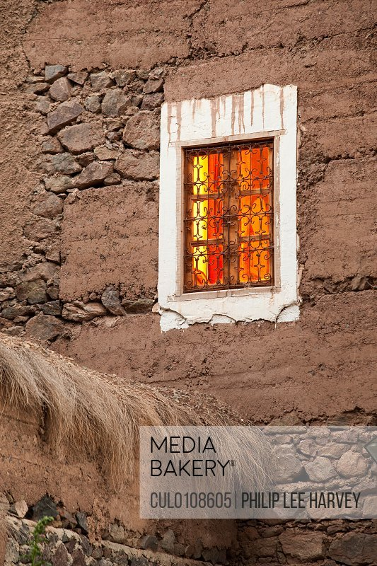 Exterior of an eco hotel in Imlil Toubkal National Park Morocco