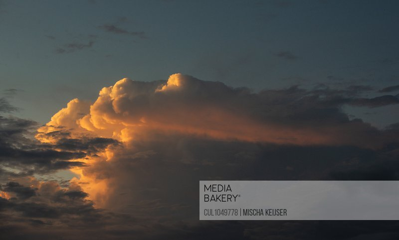 A thundercloud formed over Breda, Noord-Brabant, The Netherlands