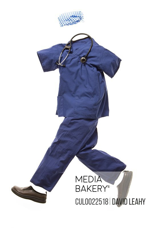 A nurses' outfit running