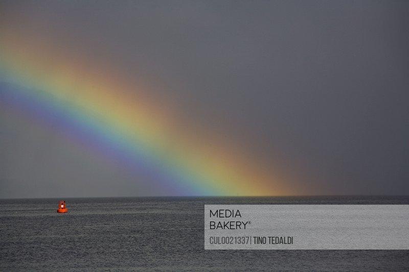Rainbow over water