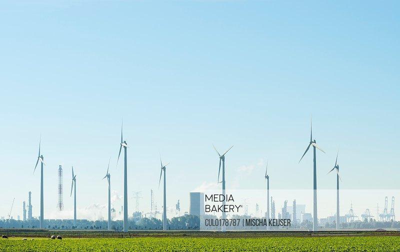 Windfarm Rilland Zeeland Netherlands