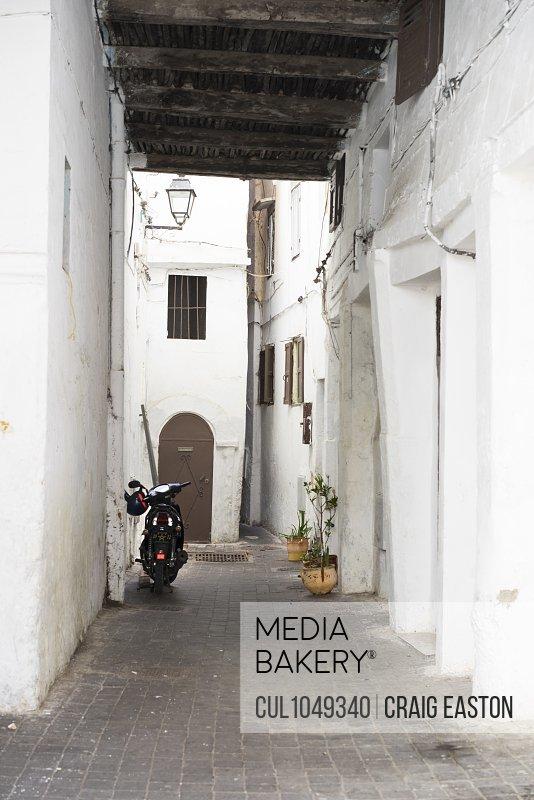 Narrow street, Casablanca, Morocco