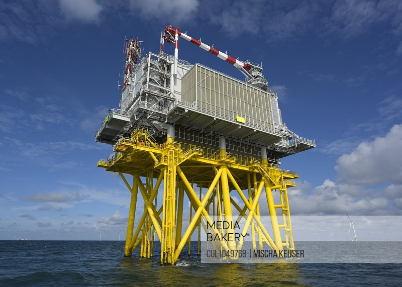 Very large offshore wind farms being built in the dutch part of the North Sea