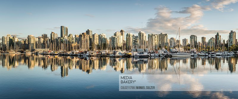 Panoramic view of city skyline Vancouver Canada