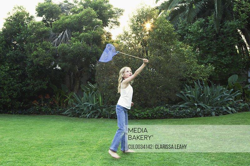 Girl holding butterfly net