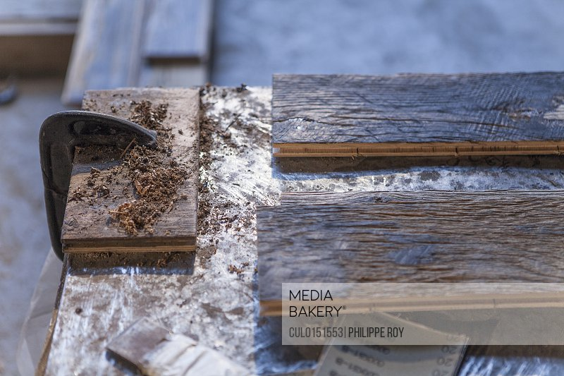 Close up of wood planks in factory Jiangsu China